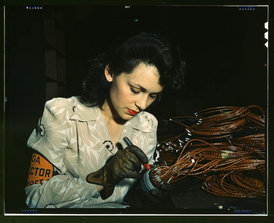 Woman Aircraft Worker- Burbank,  California 1942