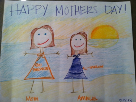 This is from your daughter Amelie. She's a designer. (Age 32)