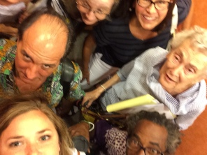 Here's a few of us in an elevator selfie I made us take.